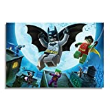NII Lego BatmanVideo Game Poster for pc and Playstation Gaming Lovers Poster (Size: 12x18 inch, self Adhesive)