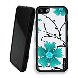 Shawnex Flower Pattern iPhone 5 Case - Rigid Shell Tough Protective Case iPhone 5 Case
