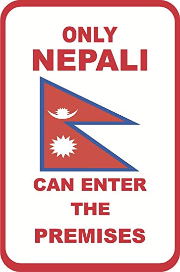 Amazon com: Aluminum Metal Sign Funny Nepali American Only