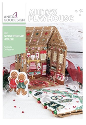 Anita Goodesign Embroidery Machine Designs CD 3D Gingerbread House - House Ingredients Gingerbread