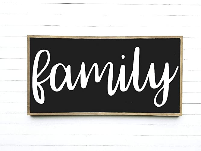 Amazon 50x26 Family Wood Sign Wooden Signs Farmhouse Style