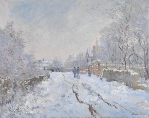 Oil Painting 'Snow Scene At Argenteuil, 1875 By Claude Monet', 18 x 23 inch / 46 x 58 cm , on High Definition HD canvas prints is for Gifts And Bar, Basement And Living Room Decoration