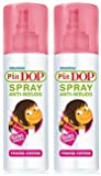 P'tit Dop - Spray Anti-Nœuds Fraise-Cerise - 200 ml - Lot de 2