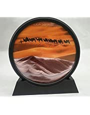 Dynamic Moving Sand 7 Inch/12 Inch Sand Picture|360° Parallel Rotation Moving Sand Art Picture|for Home Bedroom Office Hotel (Color : D, Size : 12 INCH)