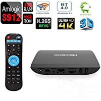ESHOWEE Android 6.0 TV Box A1 S912 2GB 16GB Octa-Core 4K Ultra-HD H265 VP9 Dual-Band 2.4/5GHz WiFi BT 4.0 Gigabit Ethernet