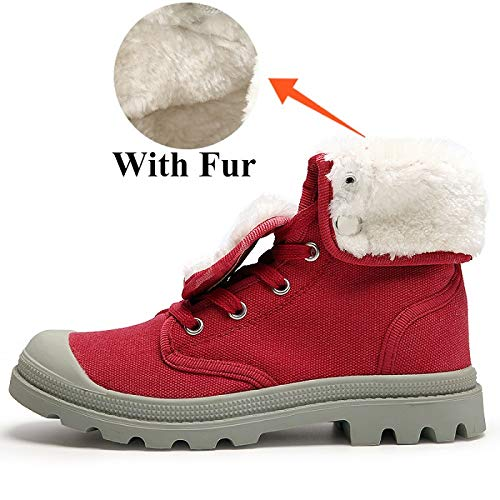Fhcgmx Para Botas De Invierno Hombre Rose Lona Fur With Ir6rwqxv
