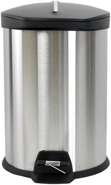 haohaiyo in acciaio inox per piani di lavoro da cucina Pattumiera biologica da 5 litri con filtro ai carboni attivi nel coperchio