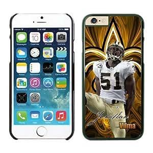Orleans Saints Jonathan Vilma Case Cover For HTC One M7 Black NFL Case Cover For HTC One M7 14271