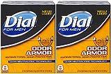 #8: Dial for Men Odor Armor Antibacterial Soap, 4 Ounce, 8 Count (Pack of 2) 16 Bars Total