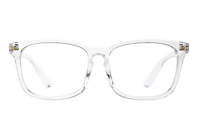 aad8885eab7 Image Unavailable. Image not available for. Colour  Agstum Wayfarer Plain  Glasses Frame Eyeglasses Clear Lens ...