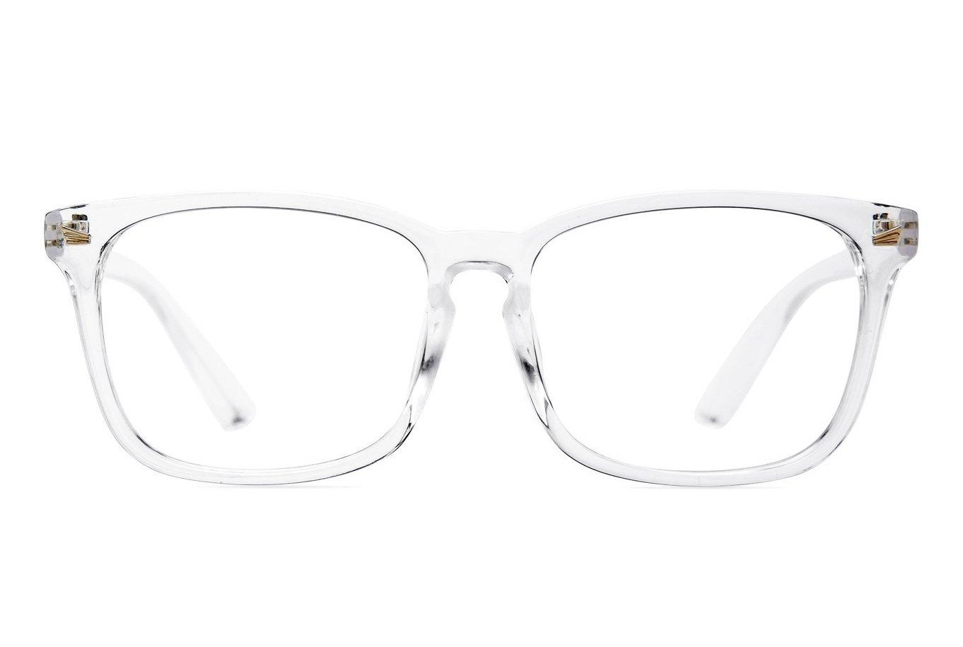 Agstum Wayfarer Plain Glasses Frame Eyeglasses Clear Lens (Transparent, 53)