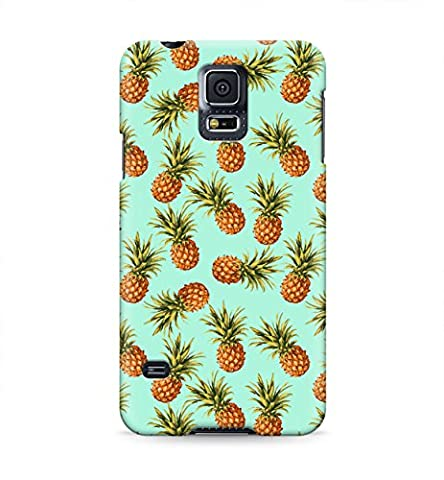 Tropical Fruit Pineapple Pattern Soft Green Hawaii Aloha Hype Fresh Hipster Hard Plastic Snap-On Case Cover For Samsung Galaxy (Samsung Galaxy S5 Cases Hawaii)
