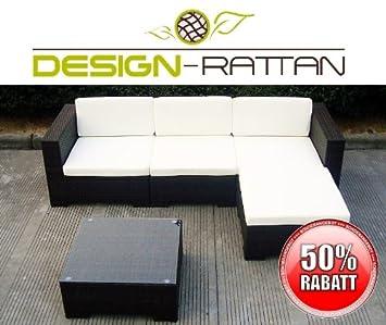 Amazonde Design Rattan Vienna Polyrattan Gartenmöbel Lounge