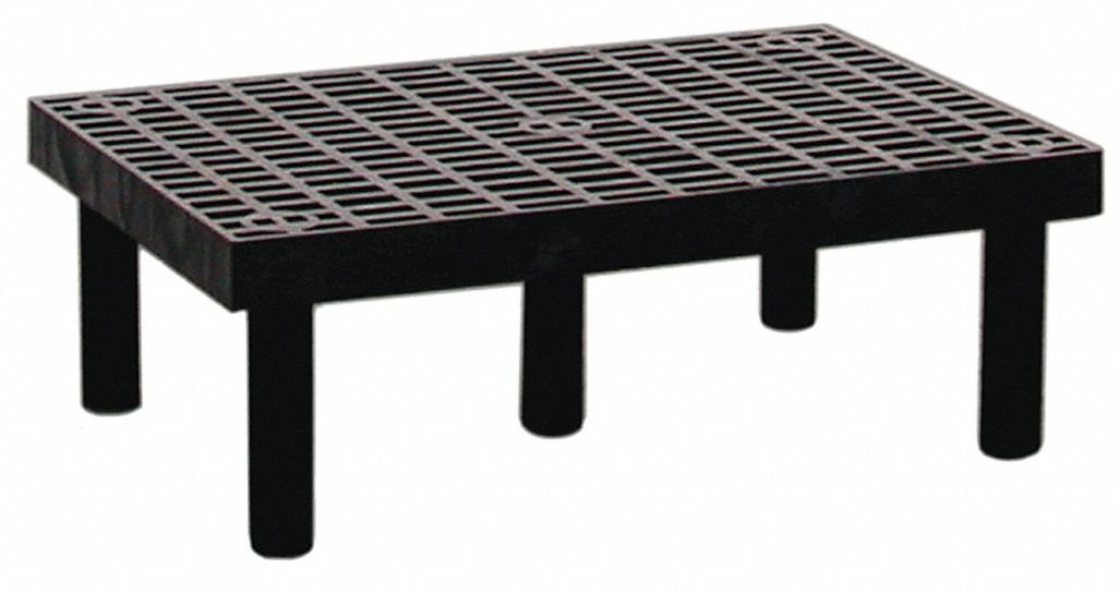 Structural Plastics Dunnage-Rack - Grid Top - 36''Wx24''D - Gray