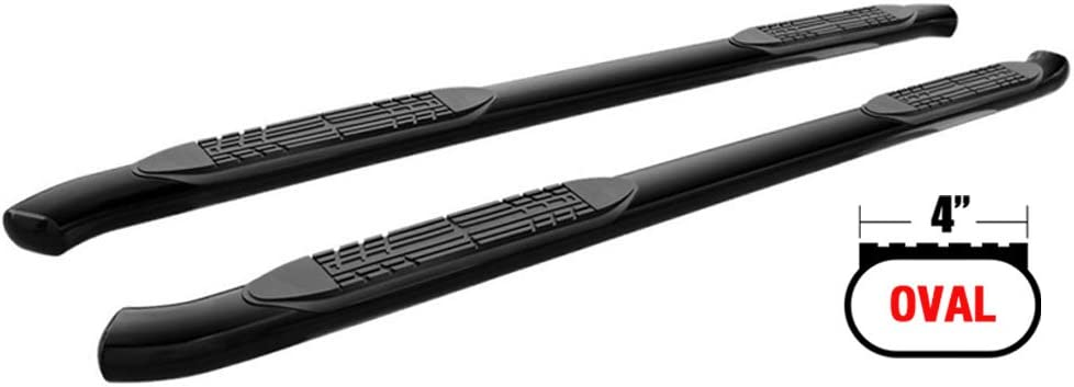 "1999-2003 FORD F150 SUPER CAB 4/"" CURVED NERF STEP BAR RUNNING BOARDS BLACK"