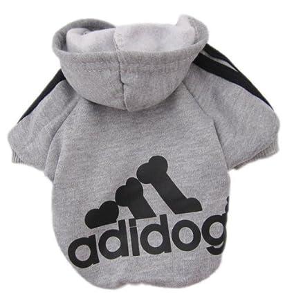 Upper Ropa Perros Pequeños Ropa de Perrito Camisas Perrito Traje Mascotas Perros Camiseta de Moda Gris