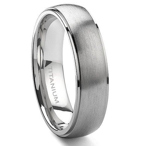Titanium 6mm Satin Finish Wedding Band Ring Sz 11.0 -
