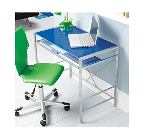 Mainstays Glass-Top Desk.