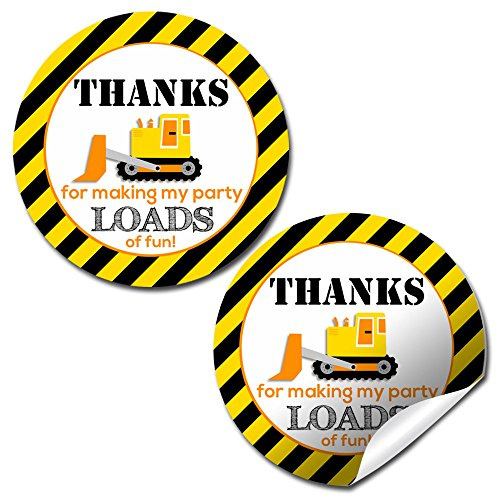 Construction Site Birthday Party Sticker Labels, 40 2