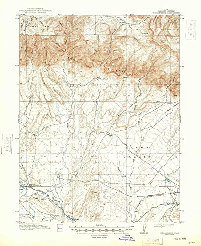 - Wellington UT topo map, 1:62500 Scale, 15 X 15 Minute, Historical, 1915, Updated 1948, 20.8 x 17 in - Paper