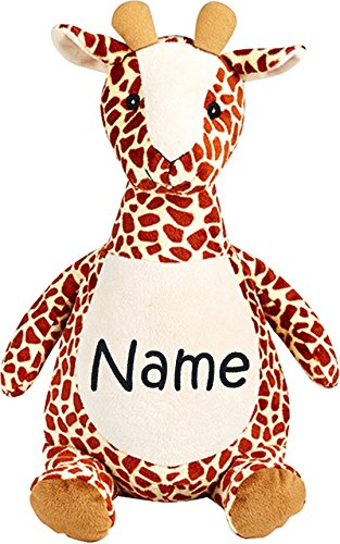 - Personalized Stuffed Giraffe with Embroidered Name