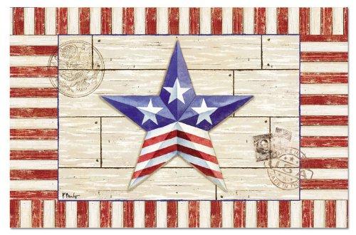 Counterart Paper Placemat, Patriotic Barn Star, 24-Pack