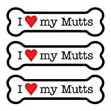 (SJT25523) I (heart) my Mutts 3-PACK of 2