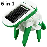 Interesting 6 In 1 DIY Educational Solar Robot Toys Assembly Transformers Robot Kit Kid Gift