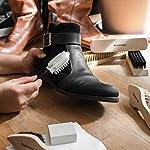 Navaris Set brosses à chaussures - Kit 8 outils d'entretien - 6x brosse 1x gomme 1x tissu de polissage - Nettoyage cuir… 7