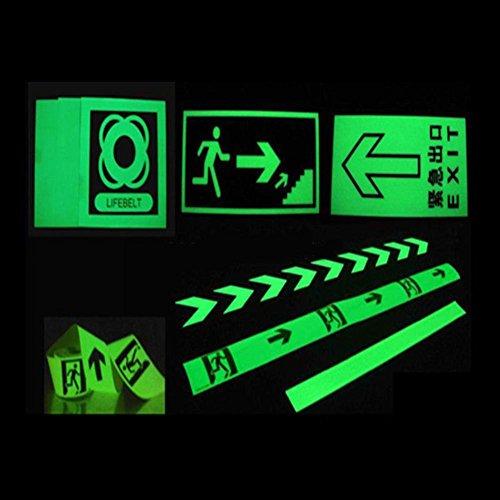 Niome Green Luminous Tape Sticker Removable, Waterproof, Photoluminescent by Niome (Image #7)