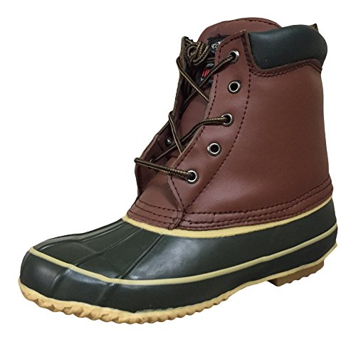 Climate X Womens SB21 Duck Boots, Brown/Green, 5 M US