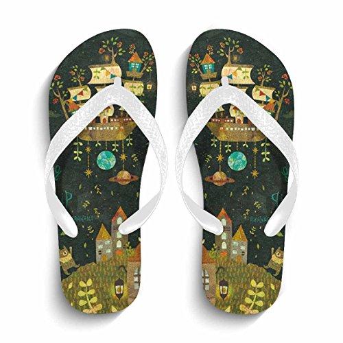 Slippers white shoes lightWeight Slip Anti Hope Beach Chad Women's qBzgwWZ