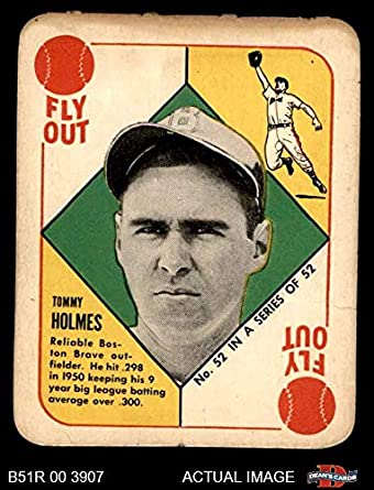 Amazoncom 1951 Topps Red Back 52 Bos Tommy Holmes Boston Braves