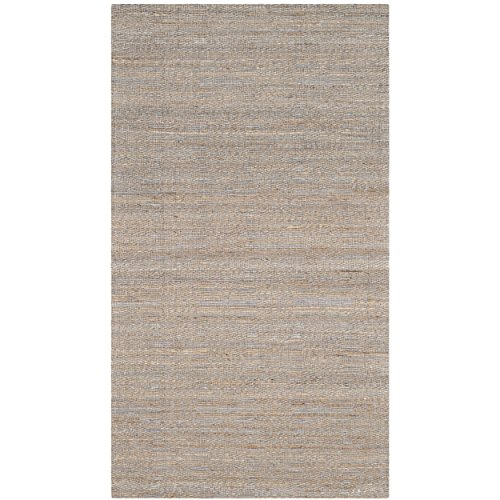 Safavieh Cape Cod Collection CAP412A Hand Woven Geometric Grey and Sand Jute and Cotton Area Rug (3' x (Sand 3x5 Area)