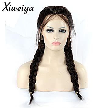 Amazon Com Xiweiya Long Double Braids Brown Synthetic Braided Lace