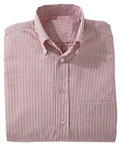5077 Stripe - Edwards Women's Long Sleeve Dress Button Down Oxford, BURGUNDY STRIPE, XLarge