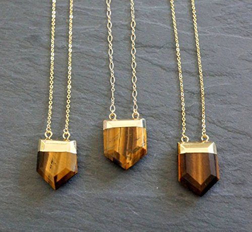 Goddess Tigers Eye Necklace - Tigers Eye Necklace ⊿ Tiger's Eye Pendant ⊿