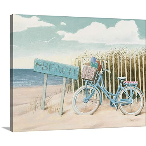Beach Cruiser II Crop Canvas Wall Art Print, 20 x16 x1.25