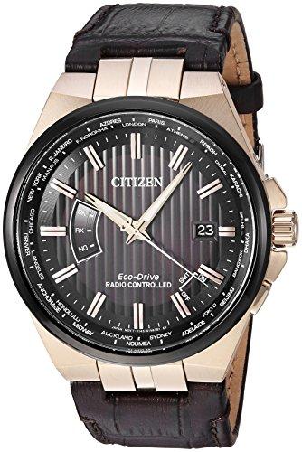 Citizen CB0168-08E Men's World Perpetual A-T Brown Strap Watch