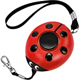 GYY 130dB Emergency Personal Alarm, Super Loud Self Defense Whistle Bag Decoration, Ideal Gift for Kids, Girls and Elderly, Batteries Included