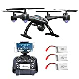 Contixo F5 WiFi FPV Quadcopter Drone w/ HD Camera, Live Video For Aerial Photography, Altitude Hold, Auto Return, Easy to Fly for Expert Pilots & Beginners | Great Gift Idea (F5 Bundle)