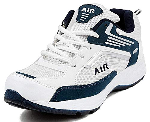 Ethics Men's White Navy Stylish Sports & Running Outdoor Shoes