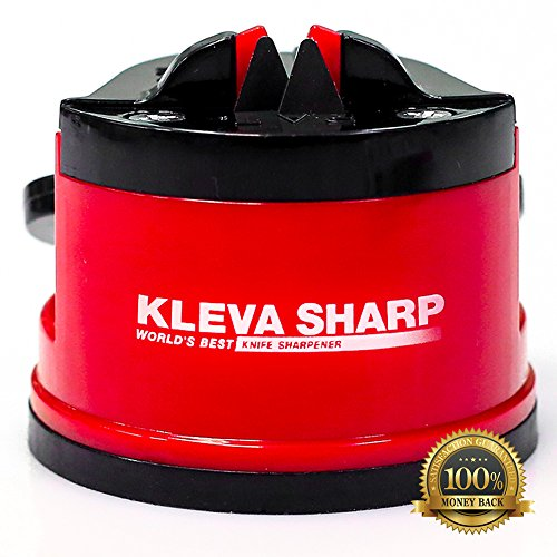 KLEVA SHARP NEW USA Patented Knife Sharpener – The quick way to sharpen knives in seconds – 100%