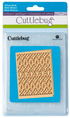 A2 Card Embossing Folder (Cuttlebug A2 Embossing Folder, African Batik)
