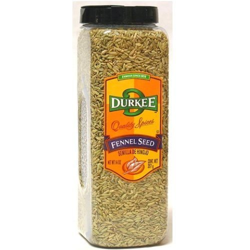 Durkee Whole Fennel Seed - 14 oz. container, 6 per case
