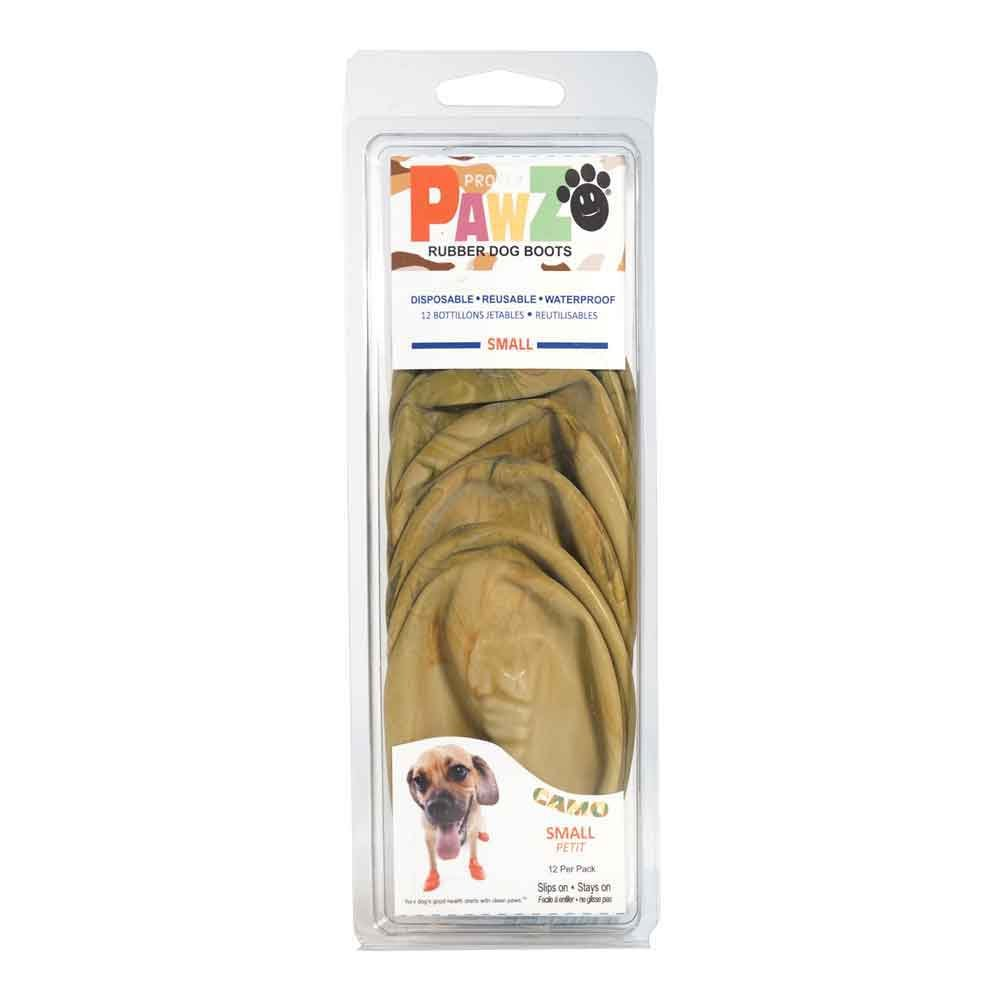Pawz Dog Boots PZCMS Up To 2.5'' Camo Water-Proof Dog Boot, Small