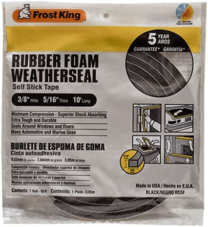 Frost King R538H Foam Tape, 3/8