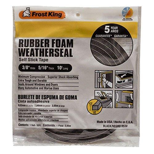 Frost King R538H Sponge Rubber Foam Tape 5/16-Inch, Black