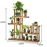 Flower Racks Flower stand Plant stand Plant flower pot rack Display shelf Shelf holds Wood plant stand Balcony Wood Living room-A