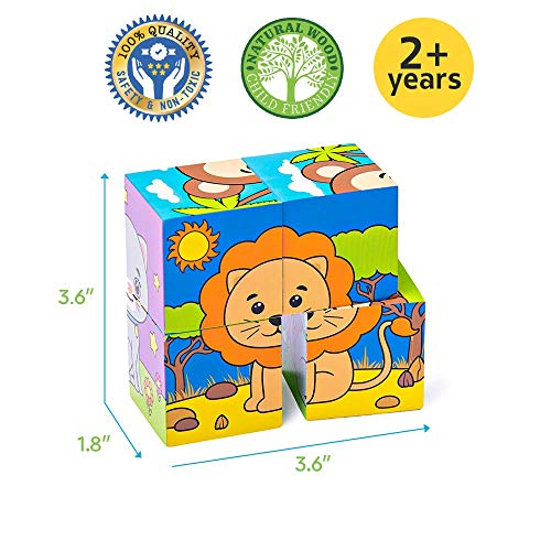 Buy wooden cube puzzles for toddlers